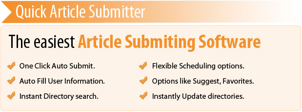 Quick Article Submitter - Article Submission Software to