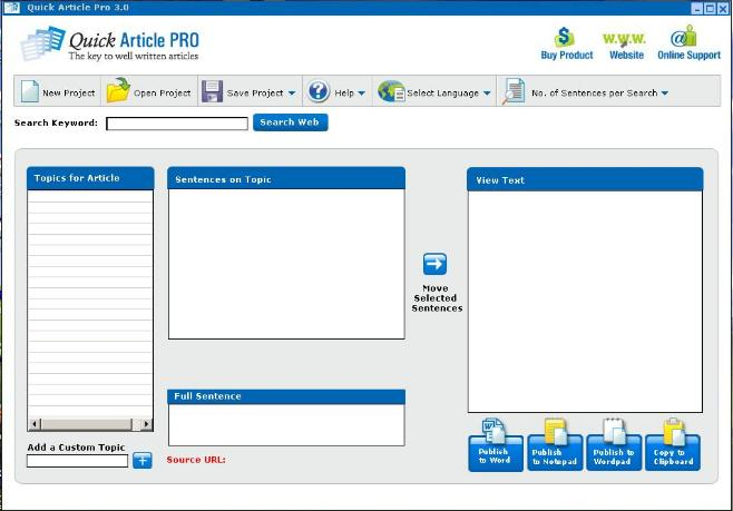 Quickarticlepro Article Writing Software